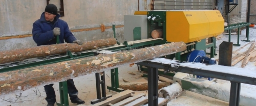 Multi blade machine for pulpwood UPT-250